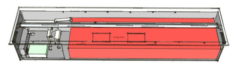 Изолированный топливный бак автоматического биокамина